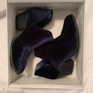 Blue Suede Steve Madden Booties